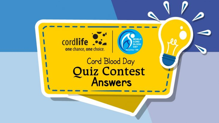 Cord blood Quiz contest Answer