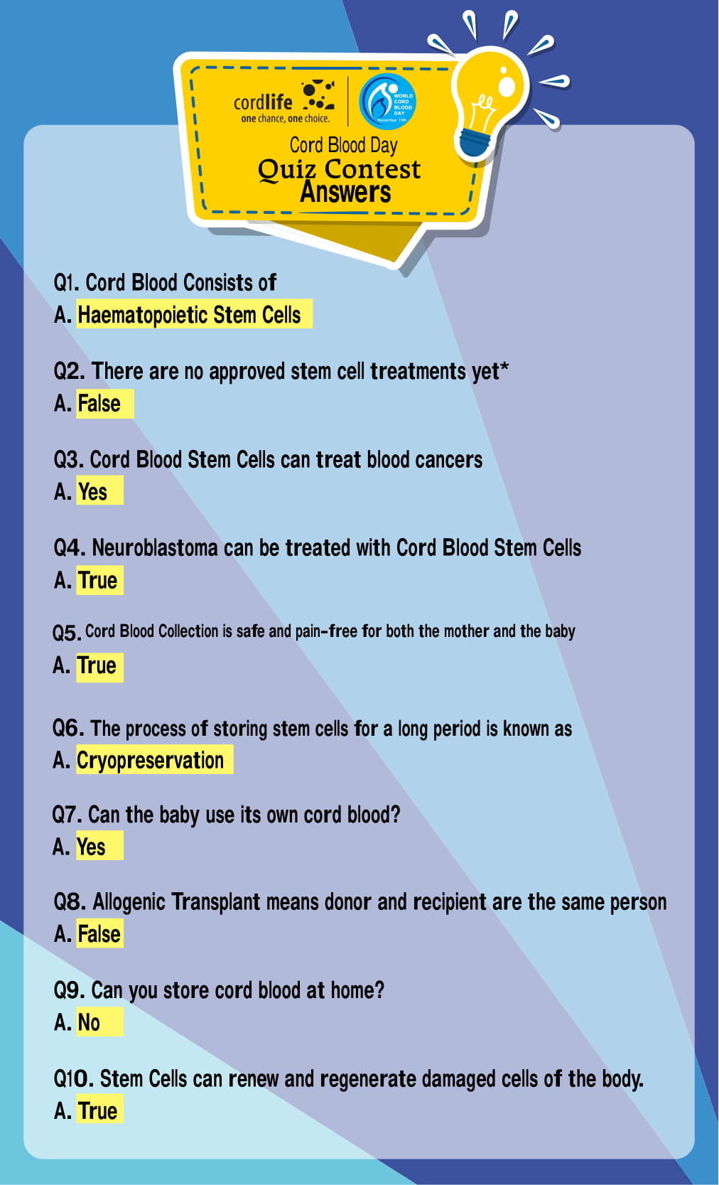 set 1 World Cord Blood Day Quiz Answers-1