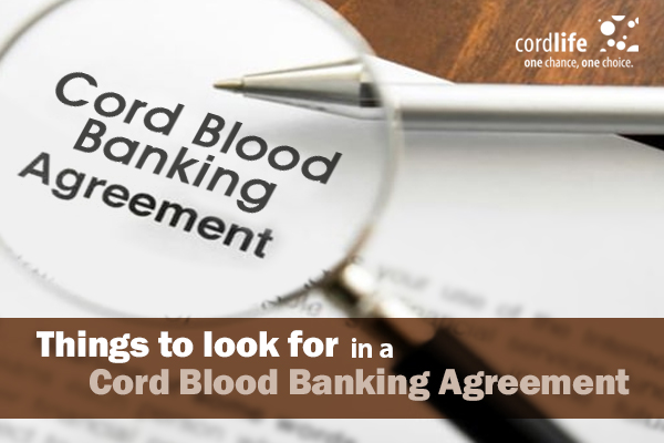 cord blood banking agreement