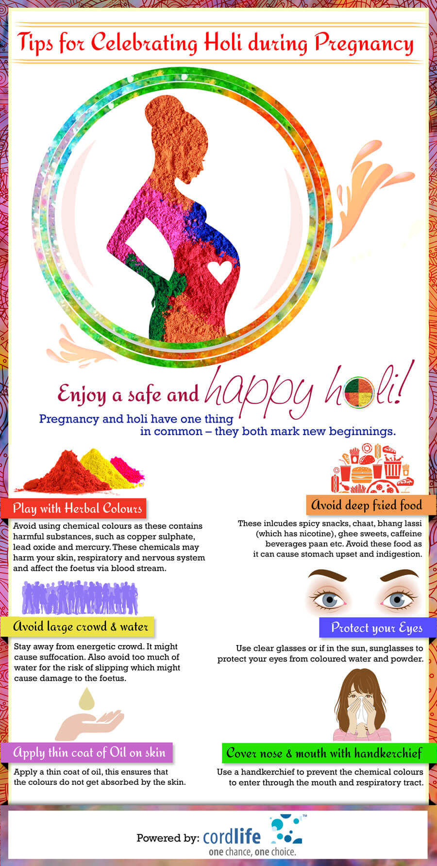 Tips for pregnant woman on Holi